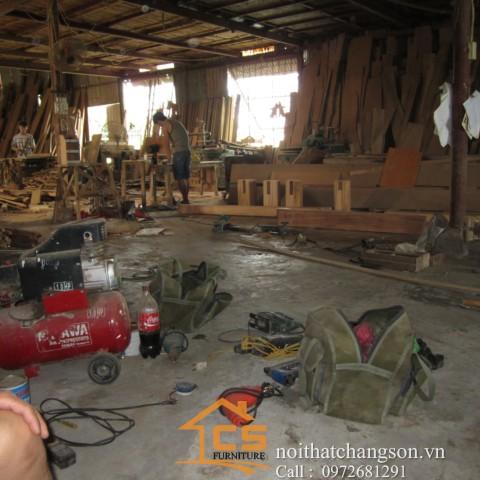 Hình ảnh xưởng sản xuất nội thất đồ gỗ - nội thất chàng sơn 2