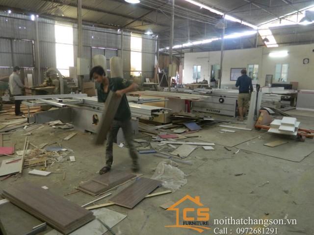 Hình ảnh xưởng sản xuất nội thất đồ gỗ - nội thất chàng sơn 1