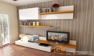Phòng khách đẹp hơn với những mẫu kệ tivi gỗ công nghiệp hiện đại