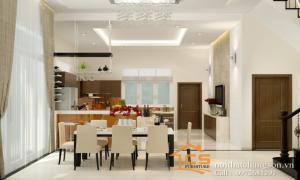 Thiết kế nội thất phòng bếp chung cư đẹp giá rẻ tại Hà Nội