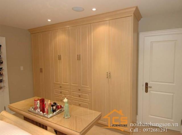Tủ quần áo gỗ tự nhiên đẹp tại hà nội 1