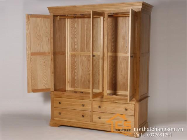 Tủ quần áo gỗ tự nhiên đẹp tại hà nội 5