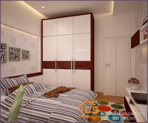 Tủ quần áo gỗ công nghiệp đẹp tại Hà Nội 3