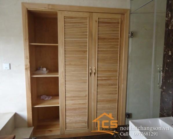 Tủ quần áo gỗ tự nhiên đẹp tại hà nội 2
