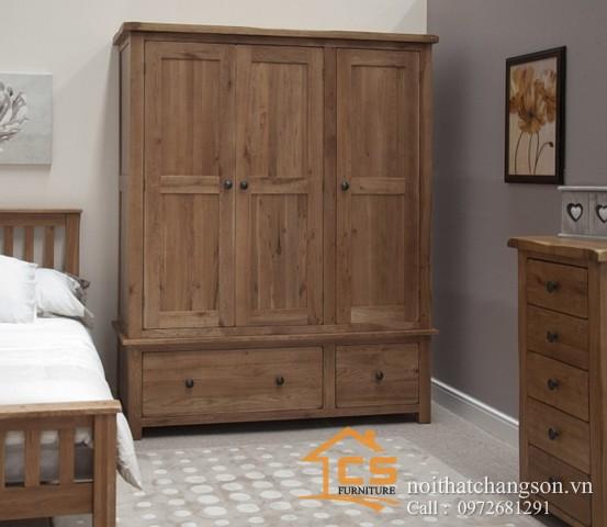 Tủ quần áo gỗ tự nhiên đẹp tại hà nội 6