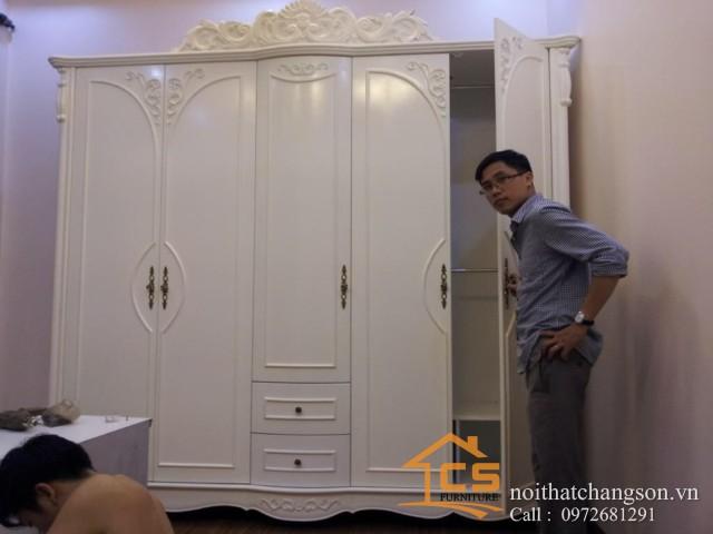 Tủ quần áo gỗ tự nhiên đẹp tại hà nội 4