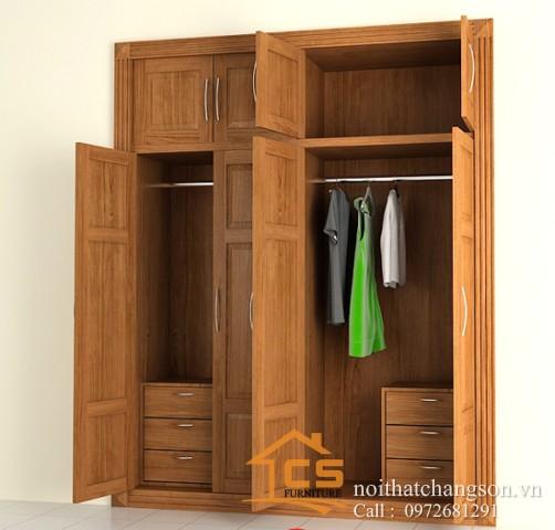 Tủ quần áo gỗ tự nhiên đẹp tại hà nội 3