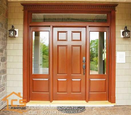Hình ảnh cửa gỗ đẹp làm từ gỗ dổi tự nhiên - nội thất chàng sơn