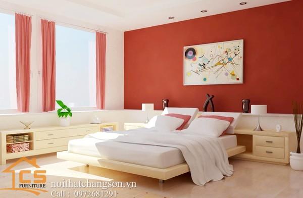 Hình ảnh giường ngủ gỗ đẹp, giường ngủ giá rẻ GNĐ 6 - nội thất chàng sơn
