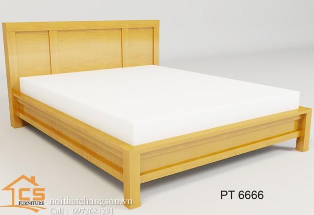 Hình ảnh giường ngủ gỗ đẹp, giường ngủ giá rẻ GNĐ 8 - nội thất chàng sơn