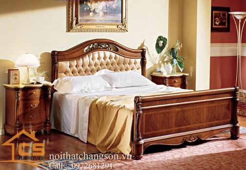 Hình ảnh giường ngủ gỗ đẹp, giường ngủ giá rẻ GNĐ 30 - nội thất chàng sơn