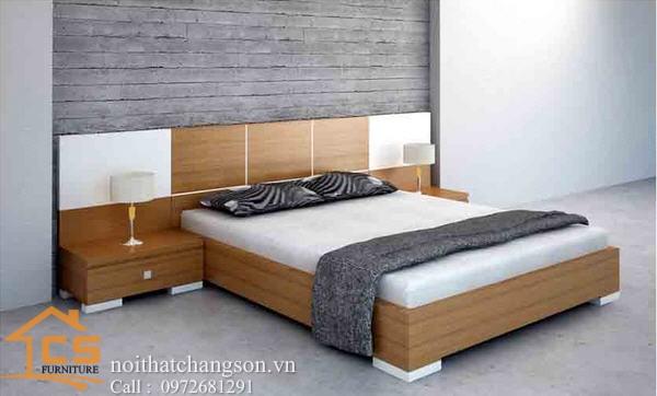 Hình ảnh giường ngủ gỗ đẹp, giường ngủ giá rẻ GNĐ 33 - nội thất chàng sơn