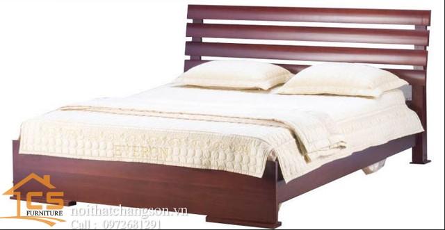 Hình ảnh giường ngủ gỗ đẹp, giường ngủ giá rẻ 29 GNĐ- nội thất chàng sơn