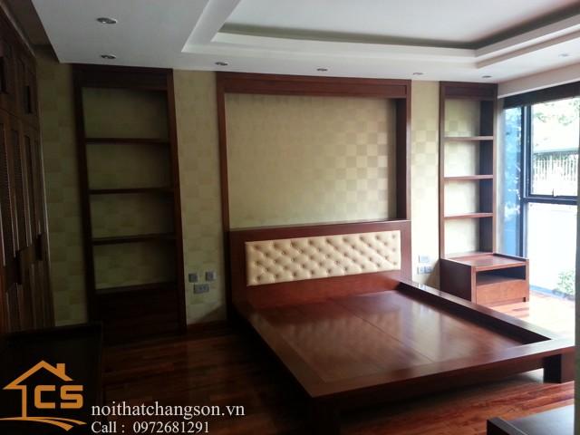 Hình ảnh giường ngủ gỗ đẹp, giường ngủ giá rẻ GNĐ 22 - nội thất chàng sơn