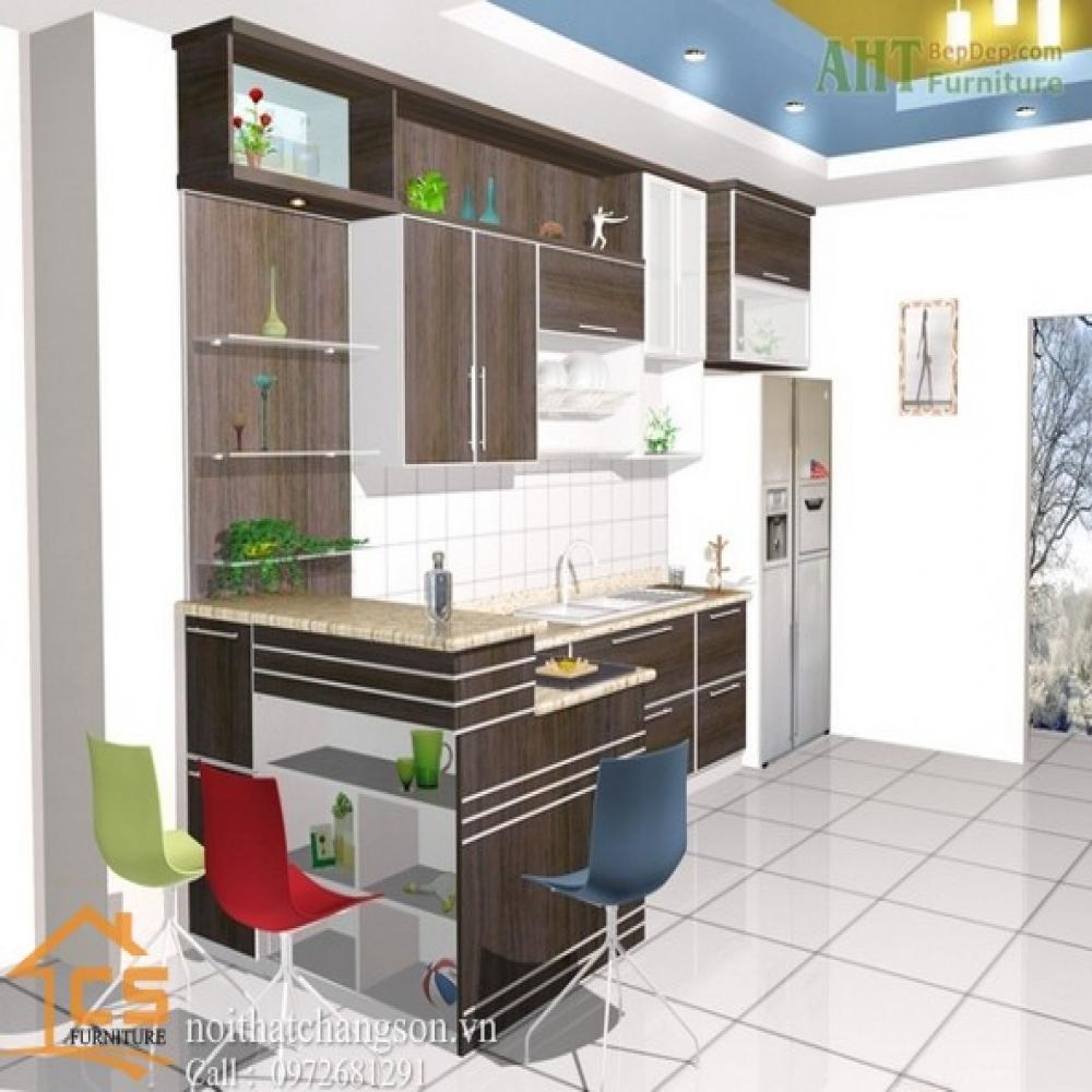 tủ bếp dạng chữ i TBCI-25