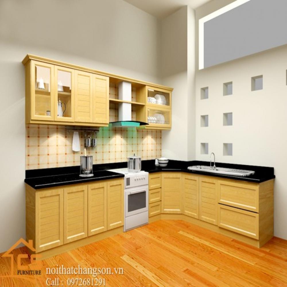 tủ bếp dạng chữ l TBCL-13