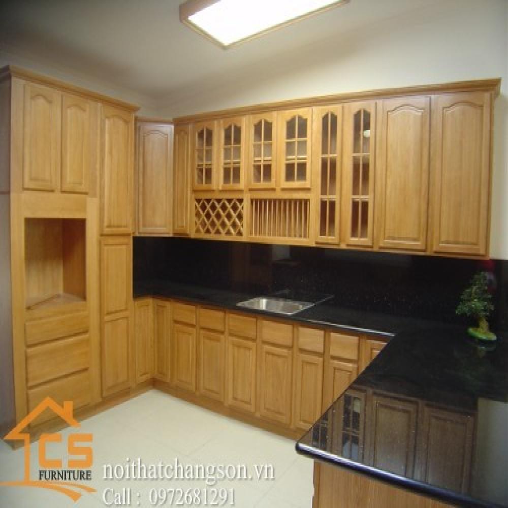 tủ bếp dạng chữ l TBCL-14