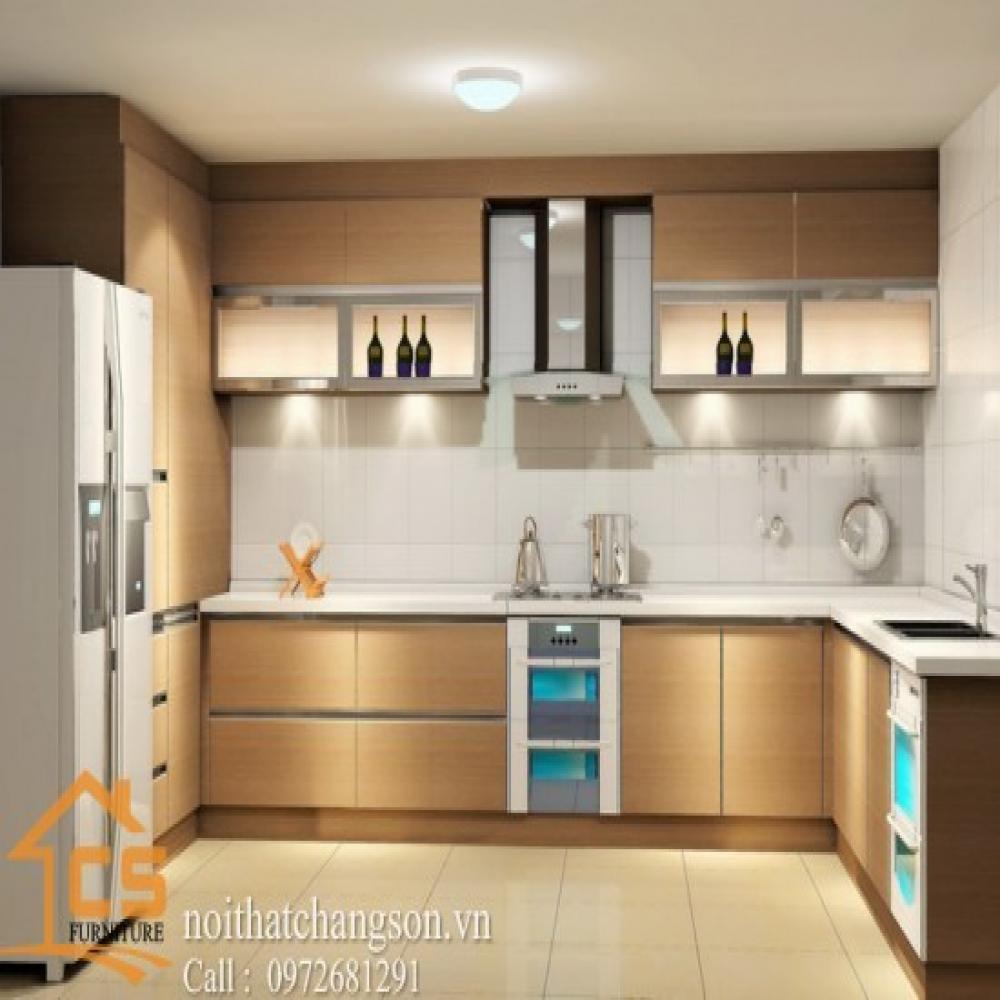 tủ bếp dạng chữ l TBCL-15