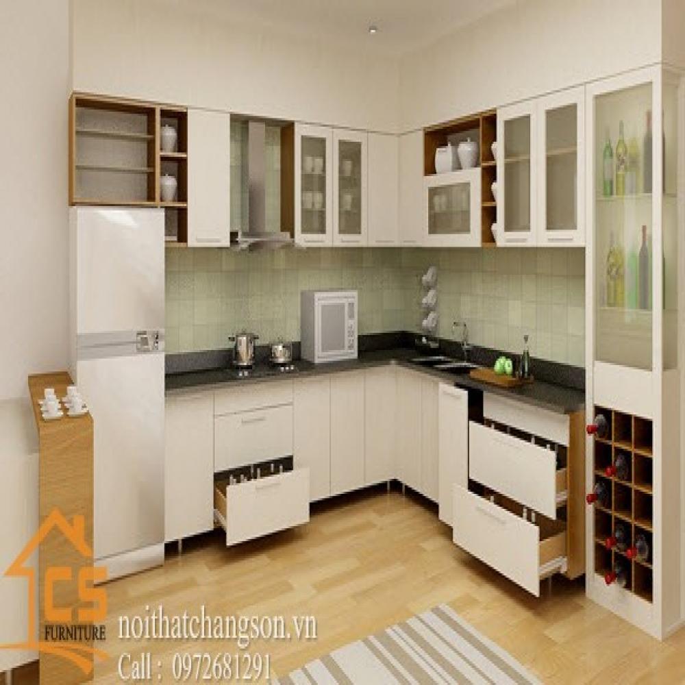 tủ bếp dạng chữ l TBCL-16