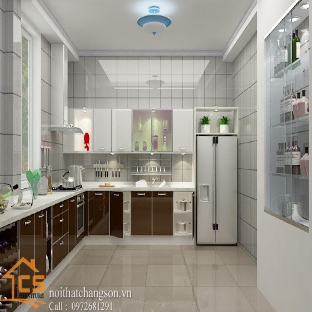 tủ bếp dạng chữ l TBCL-17