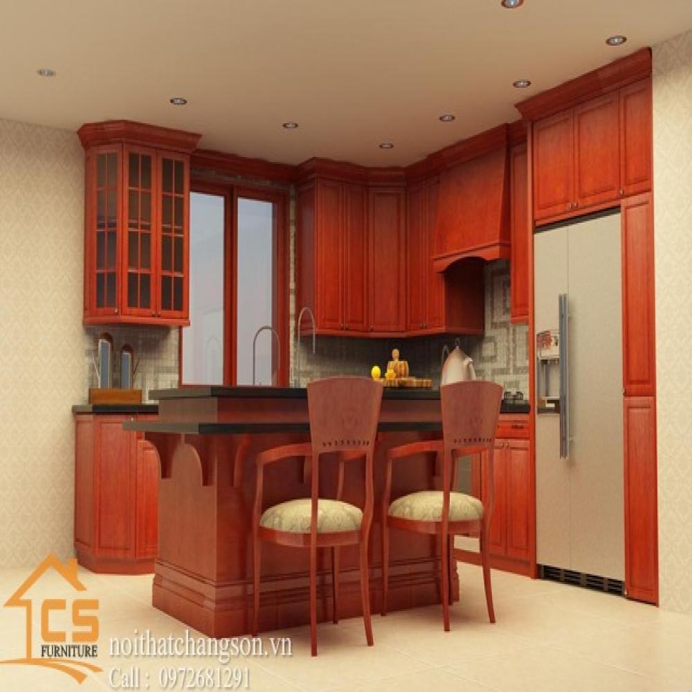 tủ bếp dạng chữ l TBCL-18