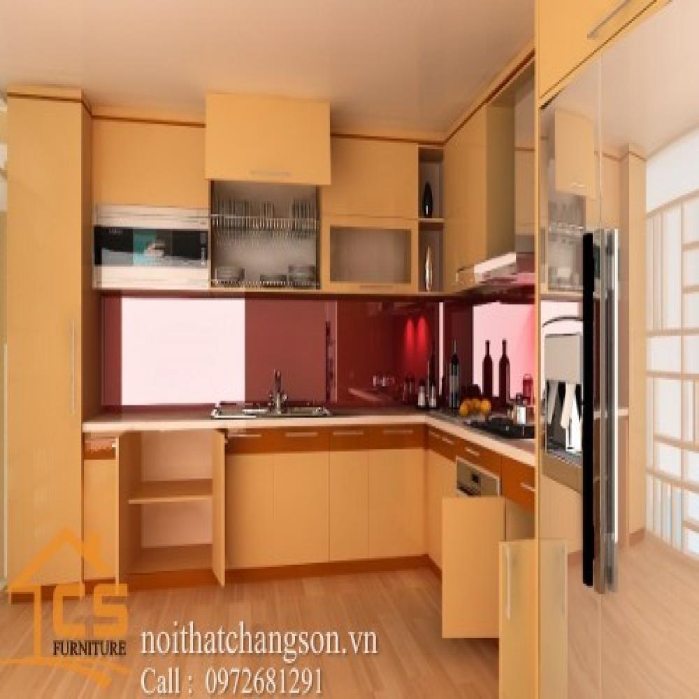 tủ bếp dạng chữ l TBCL-21