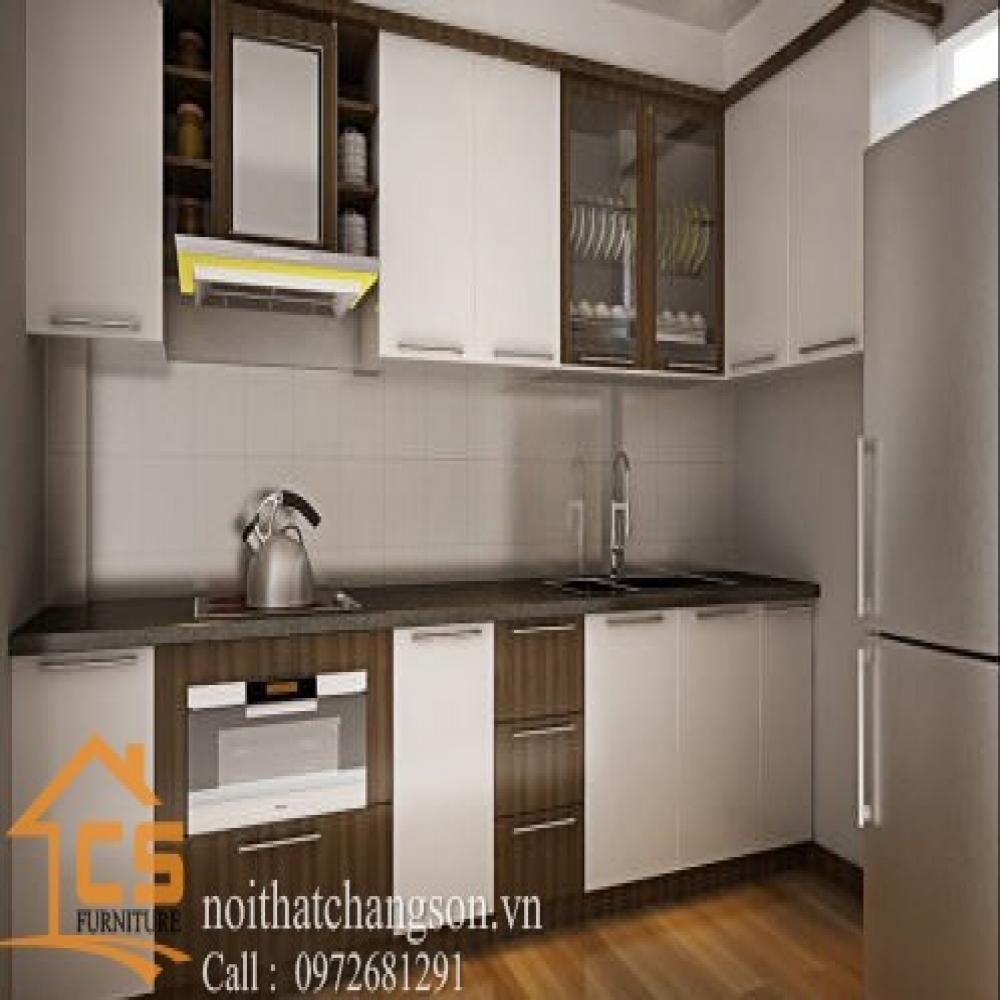 tủ bếp dạng chữ l TBCL-26