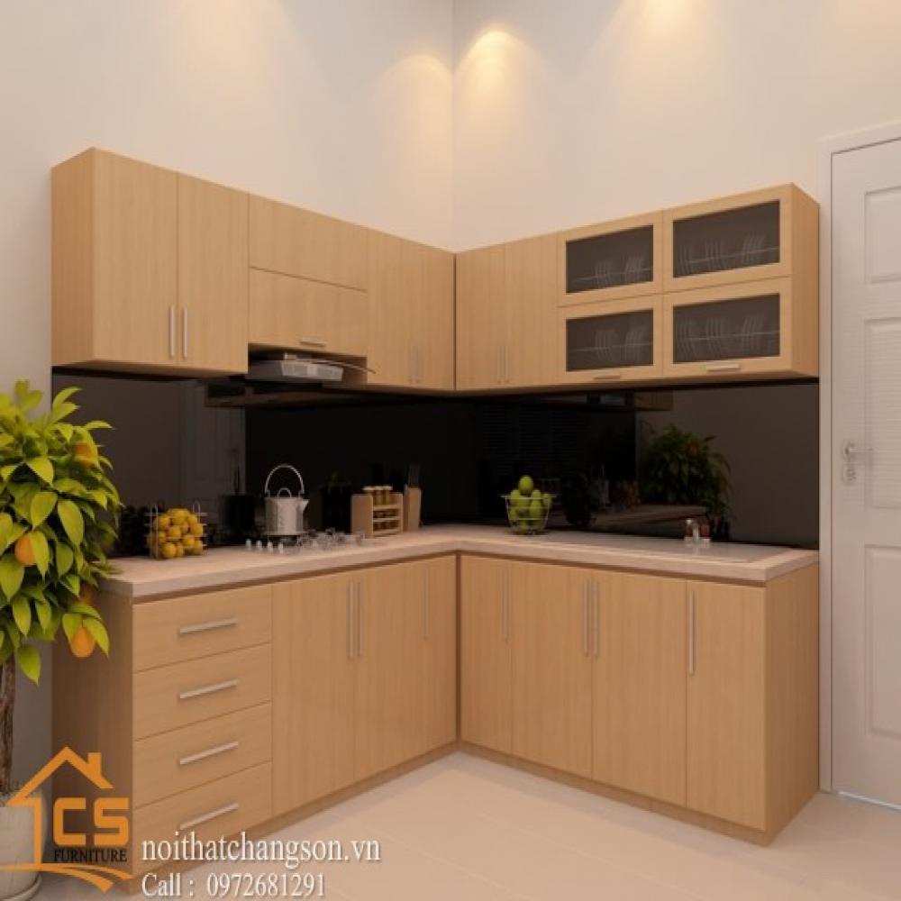 tủ bếp dạng chữ l TBCL-7