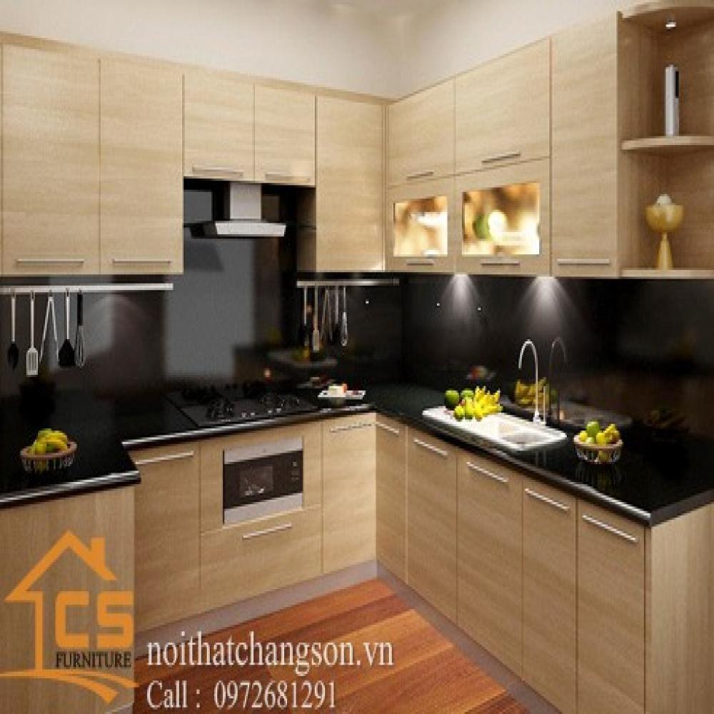 tủ bếp dạng chữ l TBCL-8