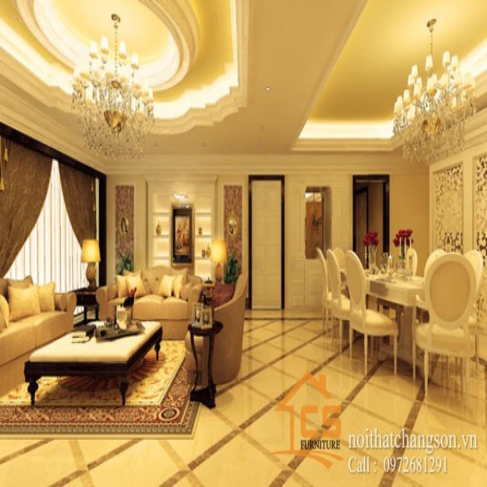 phòng khách tân cổ điển 2